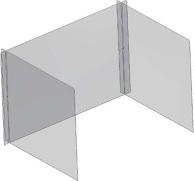 Écran amovible en polycarbonate clair