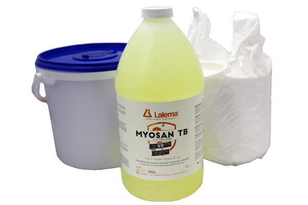 Ensemble de lingettes sèches et MYOSAN TB