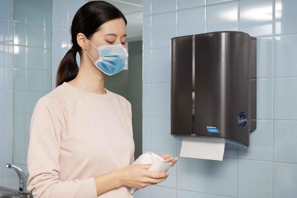 Distributeur d'essuie-mains sans contact Cascades Pro Tandem