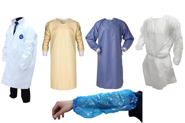 Combinaisons, blouses et manchettes protectectrices