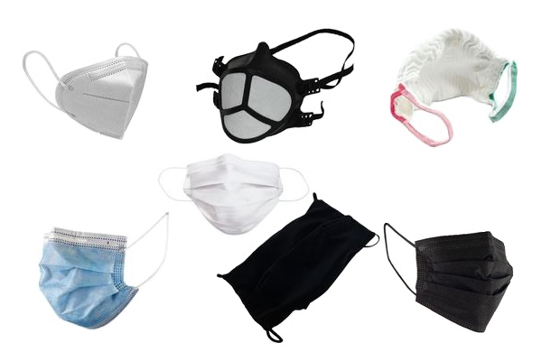 Variété de masques