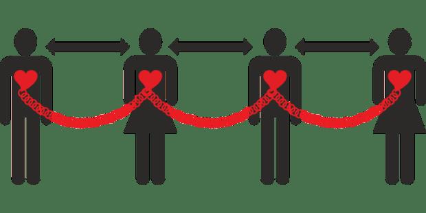 La distanciation physique est une des mesures restrictives préconisées par l'OMS