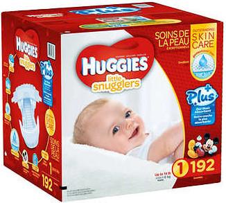Couches pour bébé Huggies Taille 1