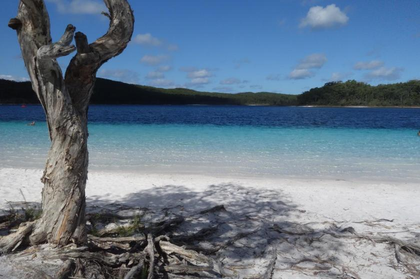 Location Independent at Lake McKenzie on Fraser Island