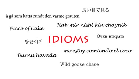idioms in many languages