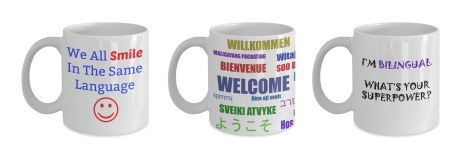 Mugs bilingual and multicultural gifts