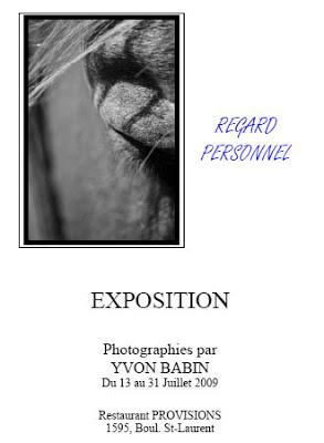 ÉVÉNEMENT: Exposition de photo