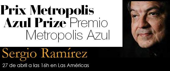 Sergio Ramírez ganador del premio Metrópolis Azul