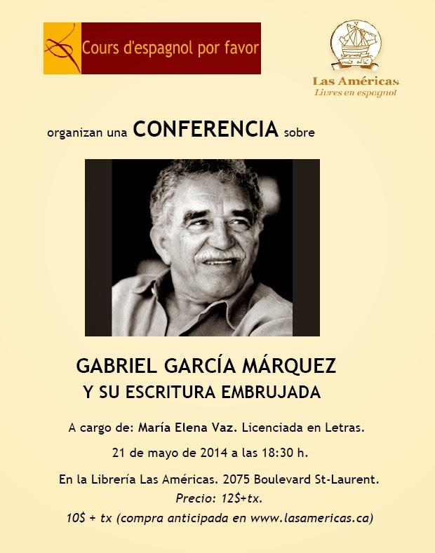 La escritura embrujada de Gabriel García Márquez – Conferencia