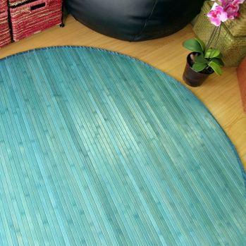 Alfombras de bambú redonda