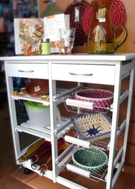 Viste tu cocina con mueble auxiliar blog de latiendawapa for Muebles auxiliares para cocina