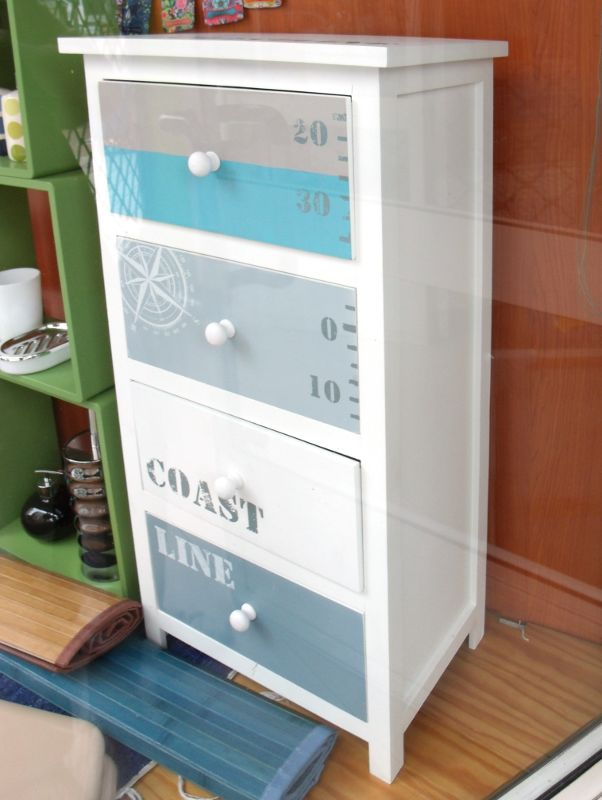 Mueble auxiliar de cuatro cajones