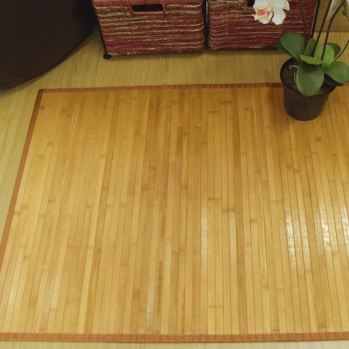 Alfombra de bambú pasillera natural
