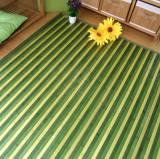 Alfombra de bambú multicolor