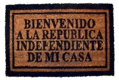 Felpudo República Independiente de Mi Casa