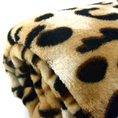 Manta con estampado leopardo