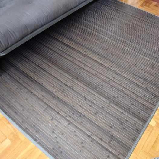 Alfombras de bambú en color gris
