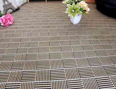 Alfombra trenzada de bambú