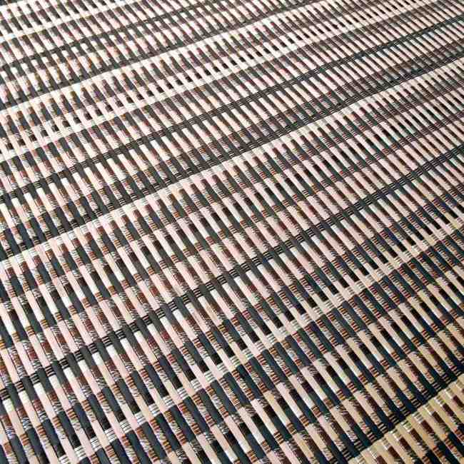 Alfombra de bambú trenzado