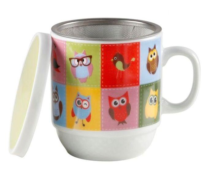 Taza para tés búhos