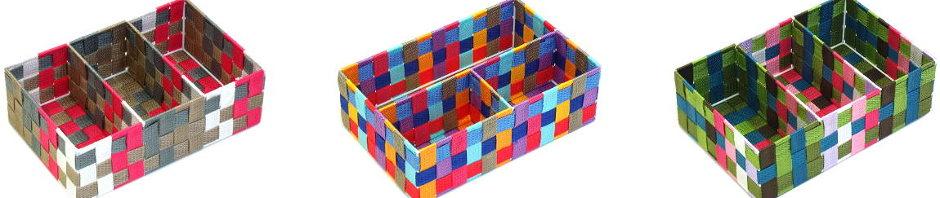 Cestas multicolores de ordenación