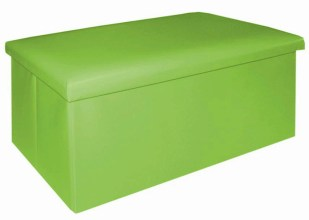 Puff plegable verde