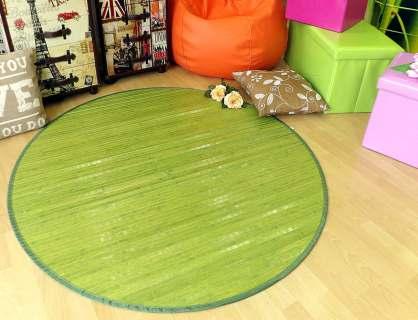 Alfombra de bambú redonda