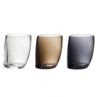 Vasos para cepillos transparentes