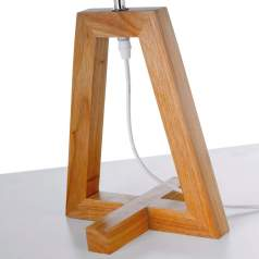Lámpara mesilla de madera