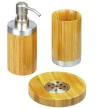 Juego de baño de bambú