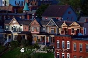 Row houses.  Saint John, NB.
