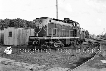 Port Huron and Detroit Alco S-2 60 at the roundhouse.
