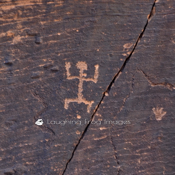 Petroglyphs photographed in Rock Art Canyon outside of St. Joseph, AZ. Rock Art Ranch should be on your list of places to see near the Painted Desert and Grand Canyon.
