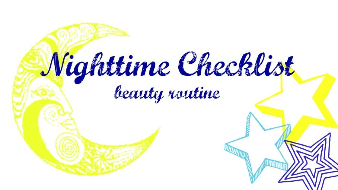 nighttime beauty routine