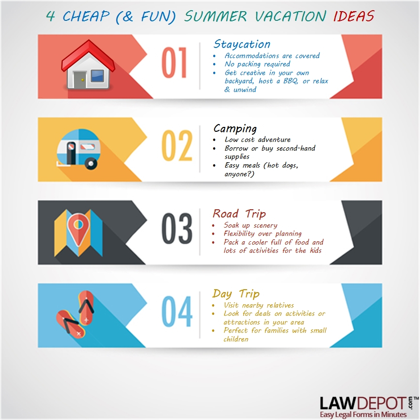 4 Low Cost Vacation Ideas