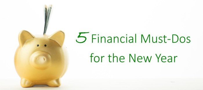 5 Financial Must-Dos for the New Year