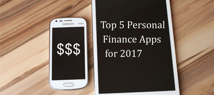 Top 5 Personal Finance Apps for 2017