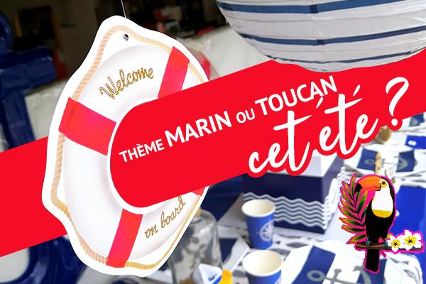 Duel du thème de l'été 2021 : Toucan vs Marin