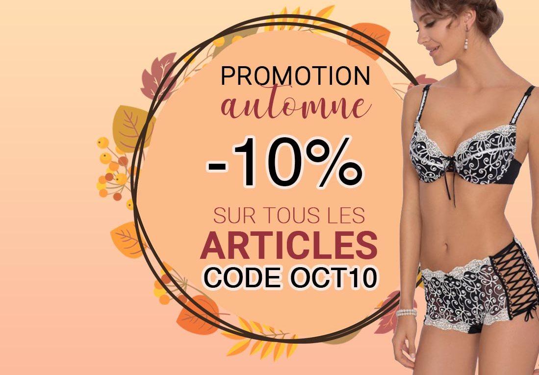 Promotion d'automne : découvrez notre top 5 lingerie !