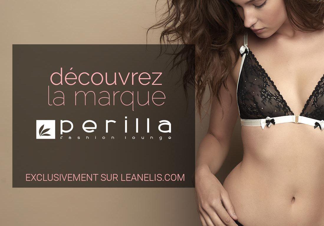 Découvrez la lingerie Perilla en exclusivité sur Leanelis.com !