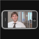 iPhone playing The Office