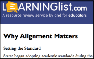 Why Alignment Matters (whitepaper) © 2014 Learning List