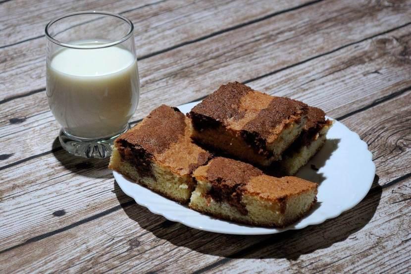 recette de gâteau zébré au chocolat