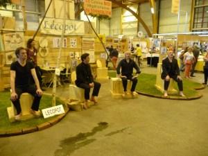 Quatuor Kapalam sur le stand Lécopot