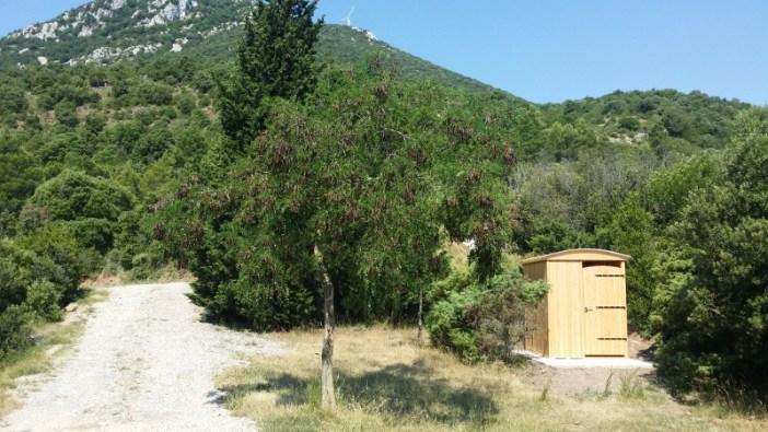 cabine toilette sèche extérieure PMR Lécobox chapelle de Faste