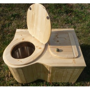 toilette sèche d'angle