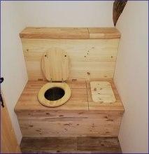 toilette sans eau et bac à copeaux