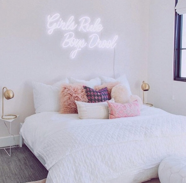 LED NEON letters bedroom