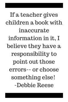 Banned Book Week quote, Debbie Reese