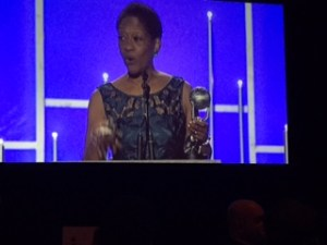 Gwendolyn Hooks accepting her NAACP Image Award!